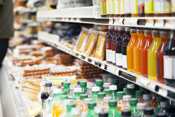 Refrigerated foods in store